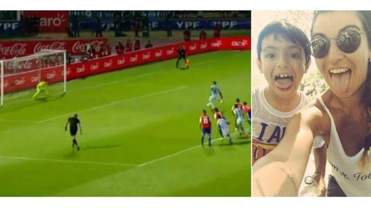 El Kun Aguero erró un penal y Gianinna Maradona lo defendió.