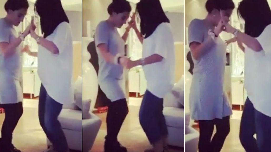 El baile sexy de Jana y la mujer de Diego Jr.