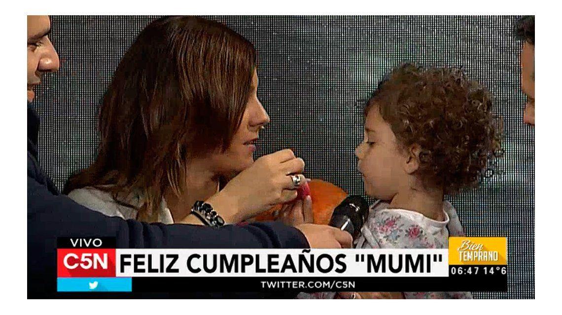 La sorpresa por el cumpleaños de Mumi Mendoza.