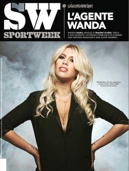Wanda Nara  en SportWeek.