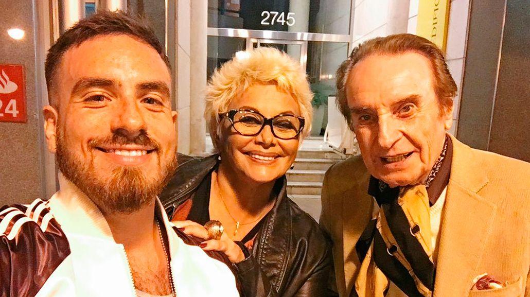 Fede Bal junto a Carmen Barbieri y Santiago Bal