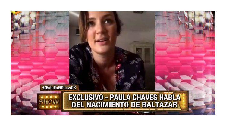 La emoción de Paula Chaves tras el nacimiento de Baltazar.