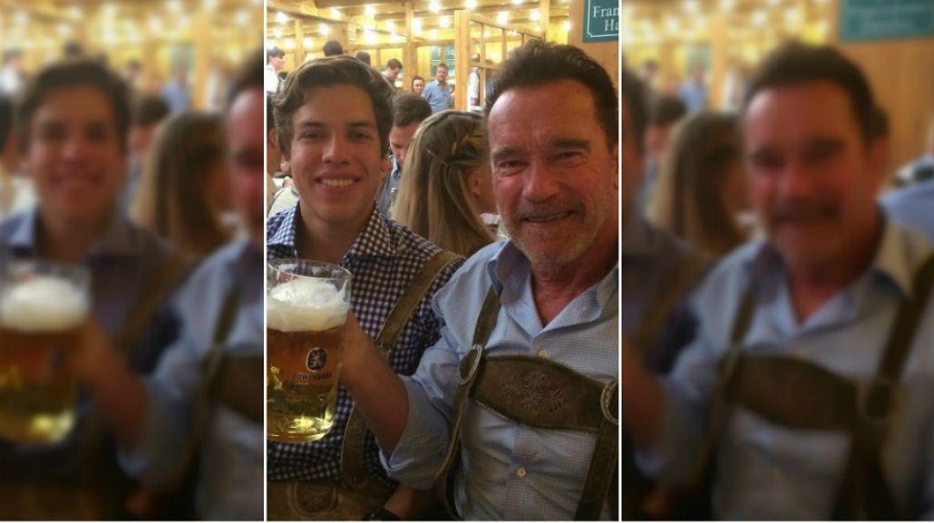 Arnold Schwarzenegger junto a su hijo extramatrimonial.