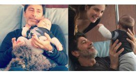 Las tiernas fotos de Nico Repetto junto a su nieto.