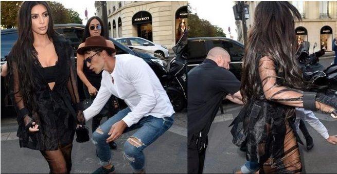Un mediático acosador ahora fue por Kim Kardashian: intentó besarle la cola en evento en París
