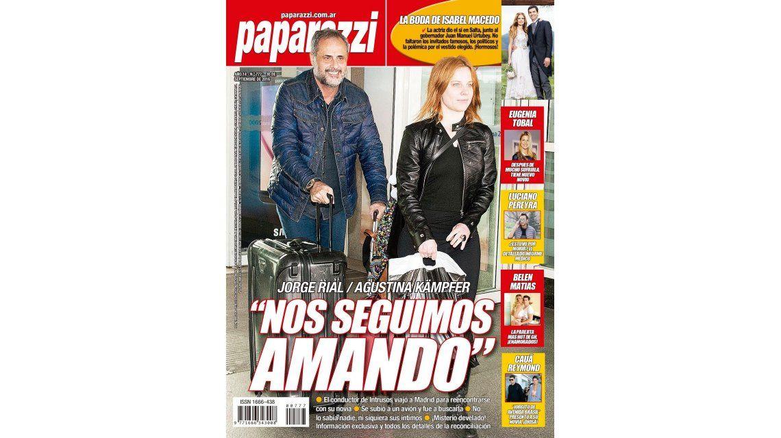 Jorge Rial y Agustina Kämpfer, tapa de la revista Paparazzi: Nos seguimos amando