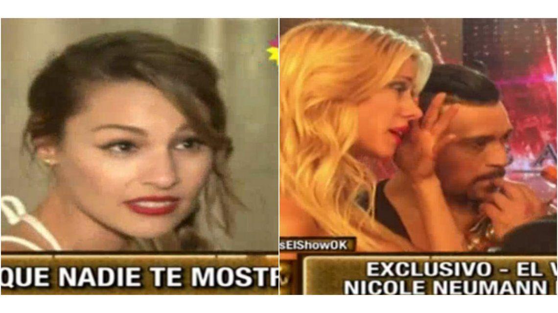 Lo que no se vio del escándalo: el llanto de Nicole y qué decía Pampita en el camarín