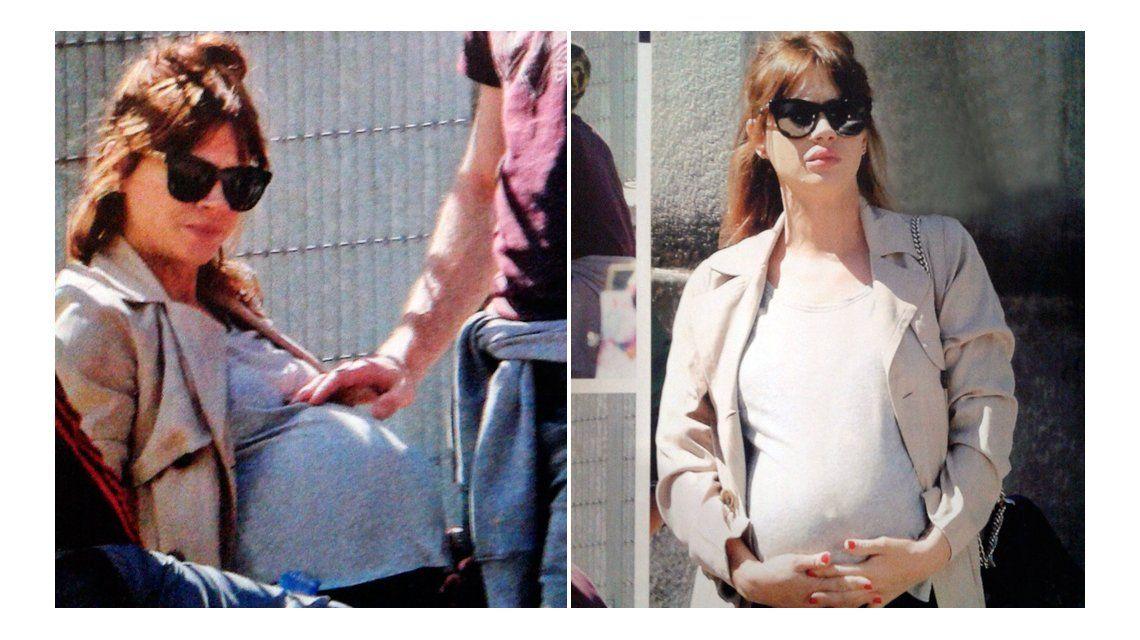 Las tiernas fotos de Celeste Cid, en la dulce espera, paseando por Palermo