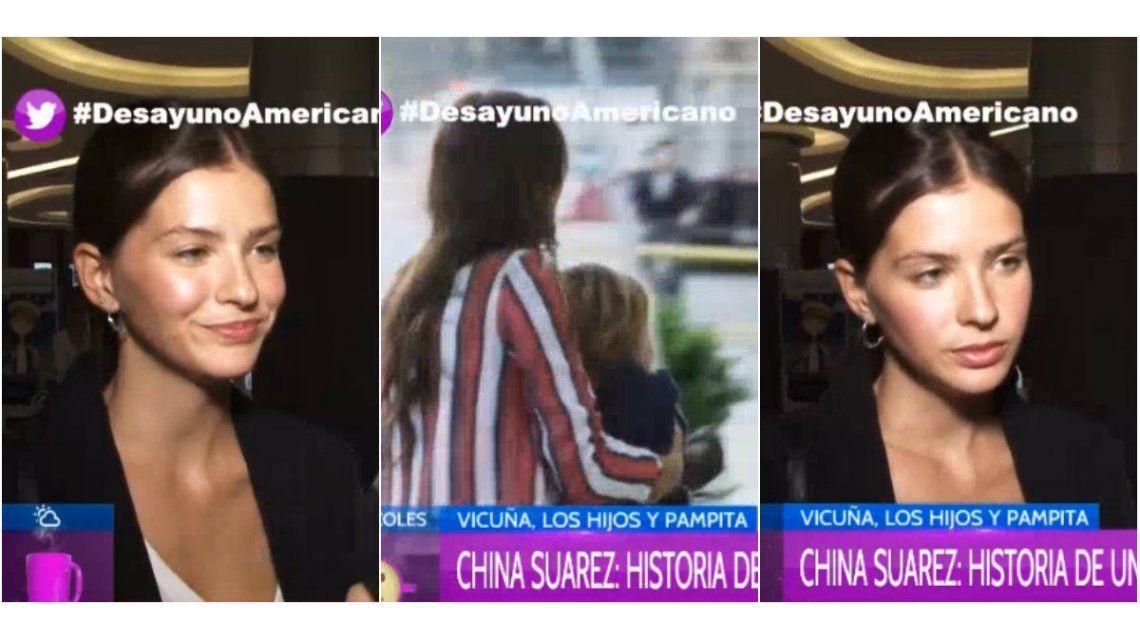 El enojo de la China Suárez cuando le preguntaron sobre la infidelidad, el motorhome y el video con los hijos de Pampita