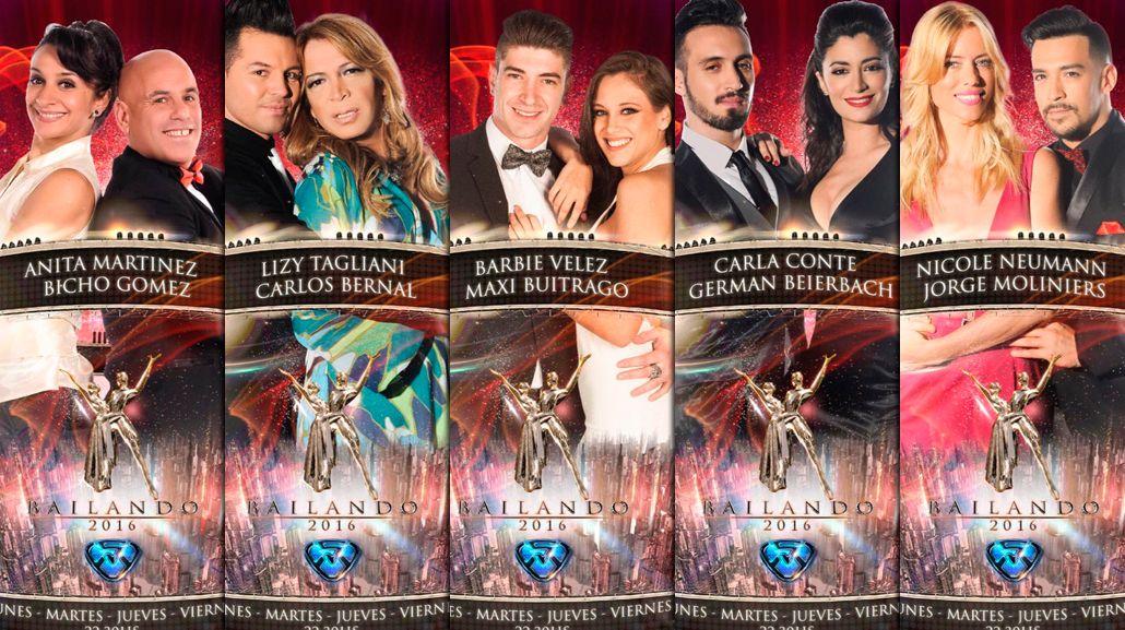 Marcelo Tinelli presentó las fotos oficiales de las nuevas parejas del Bailando 2016