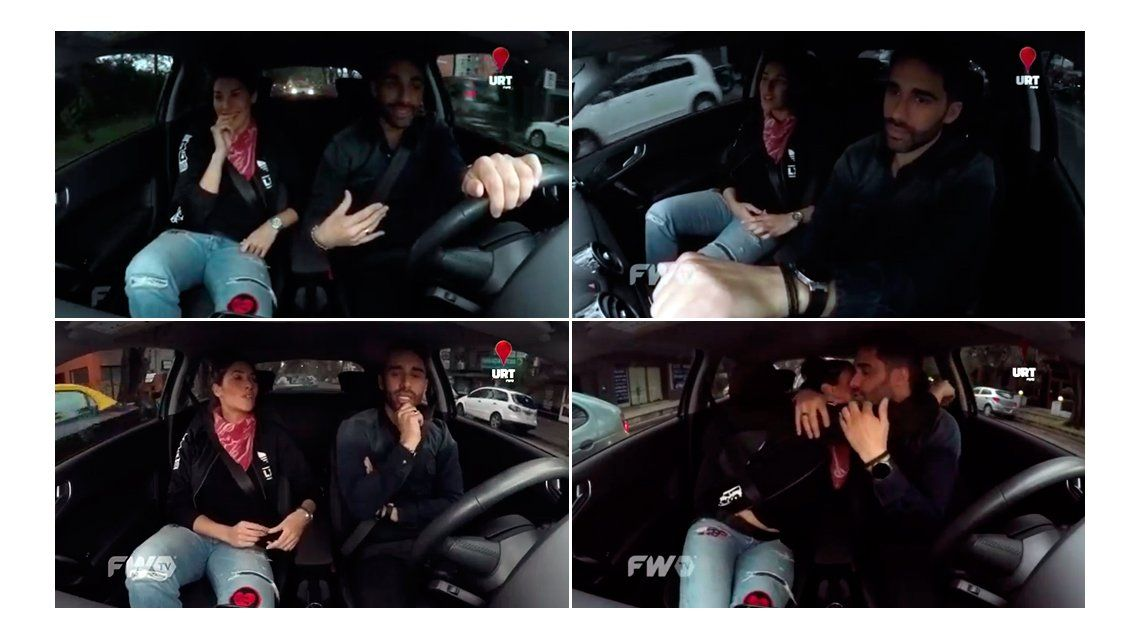 Ivana Nadal y el Pollo Álvarez, coqueteo y besos dentro de un auto: Estamos jugando con fuego