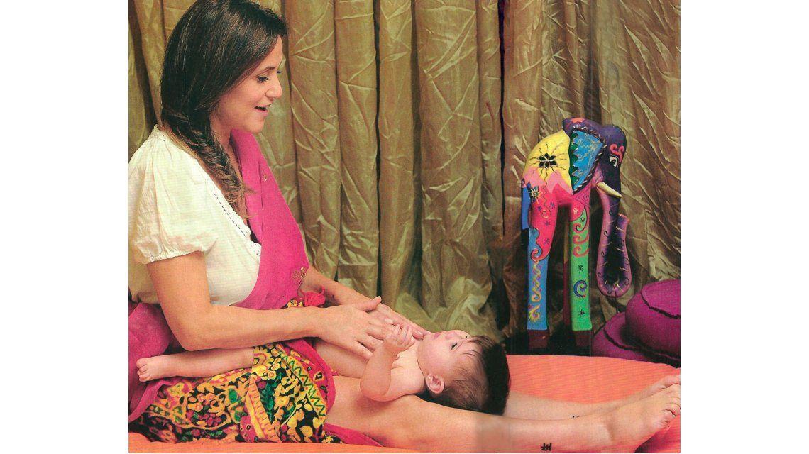 Las prácticas milenarias de Fernanda Callejón con su hija Giovanna