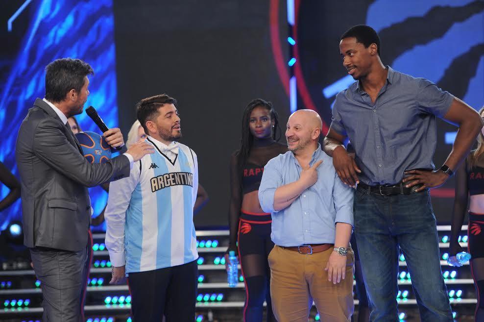 Tinelli le hizo un desafío de básquet especial a Diego Jr. y anunció los nuevos participantes