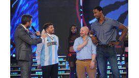 Tinelli le hizo un desafío de básquet a Diego Jr. y anunció los nuevos participantes