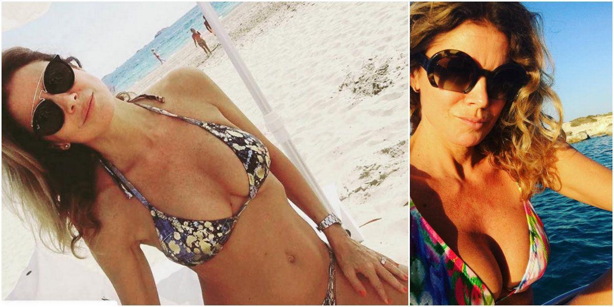 Flavia Palmiero sabe divertirse: selfies ¡y lomazo a los 50! en un viaje por Europa