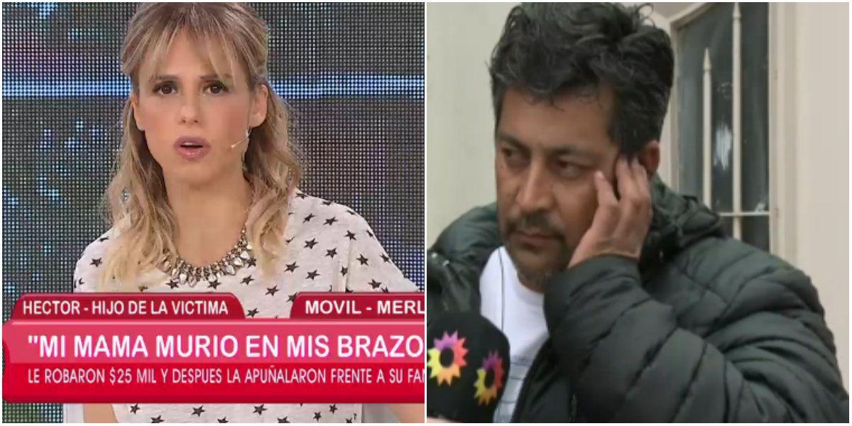 Difícil momento en El diario de Mariana: el hijo de la almacenera asesinada se desvaneció durante una entrevista
