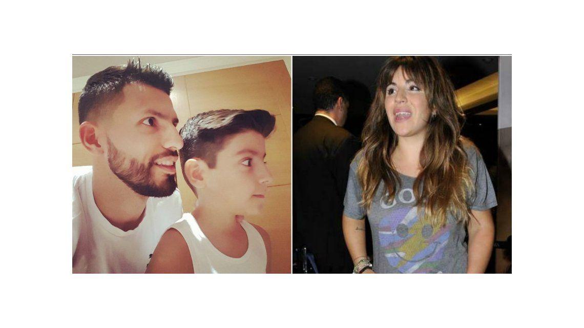 Los días del Kun Agüero y su hijo Benjamín: corte de pelo y la reacción de Gianinna Maradona