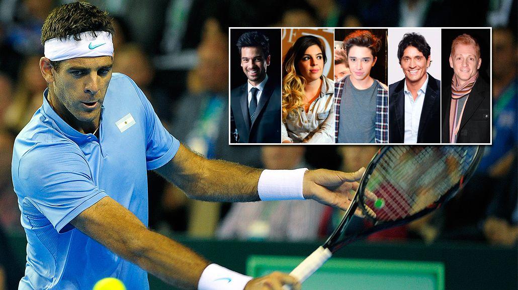 Del Potro le ganó a Andy Murray por la Copa Davis y los famosos explotaron en las redes