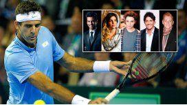 Del Potro le ganó a Murray por la Copa Davis y los famosos explotaron en las redes