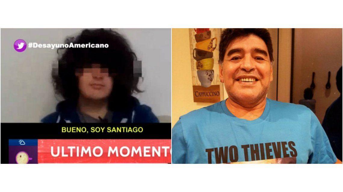 Este es Santiago, el supuesto sexto hijo de Diego Maradona