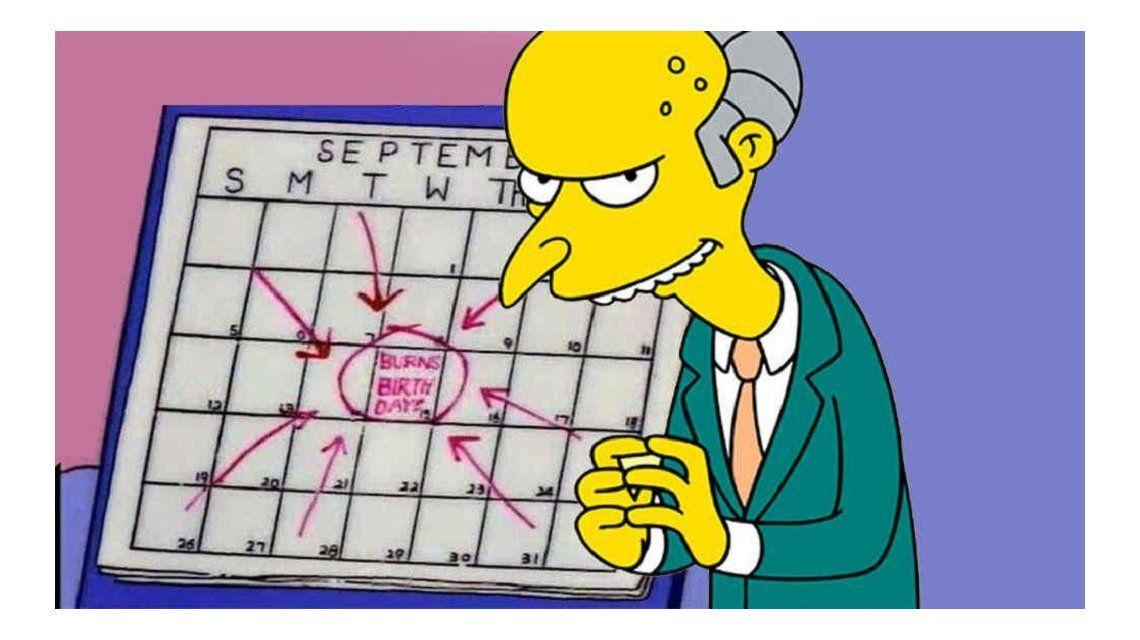 Los Simpson: furor en las redes por el cumpleaños del Señor Burns