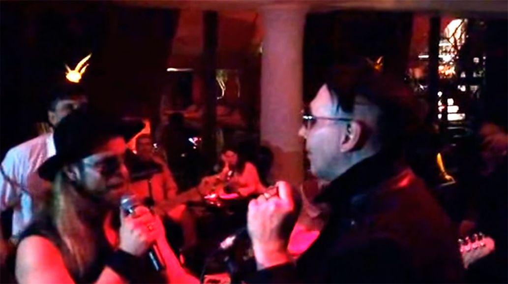 Marilyn Manson cantó con Tripa de Mambrú después de su show en Buenos Aires