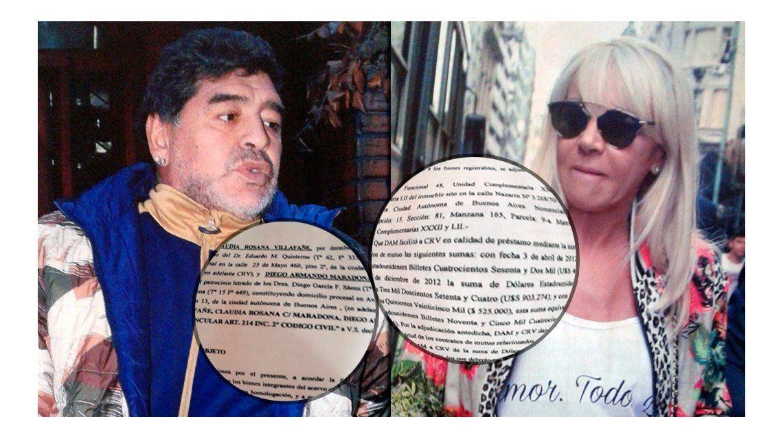 Estos son los papeles de divorcio que Claudia Villafañe quiere anular