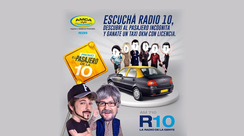 Gran sorteo: Radio 10 regala un taxi a sus oyentes