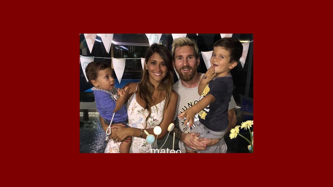 Lionel Messi y Antonella festejaron el primer año de Mateo: fotos y frases de amor