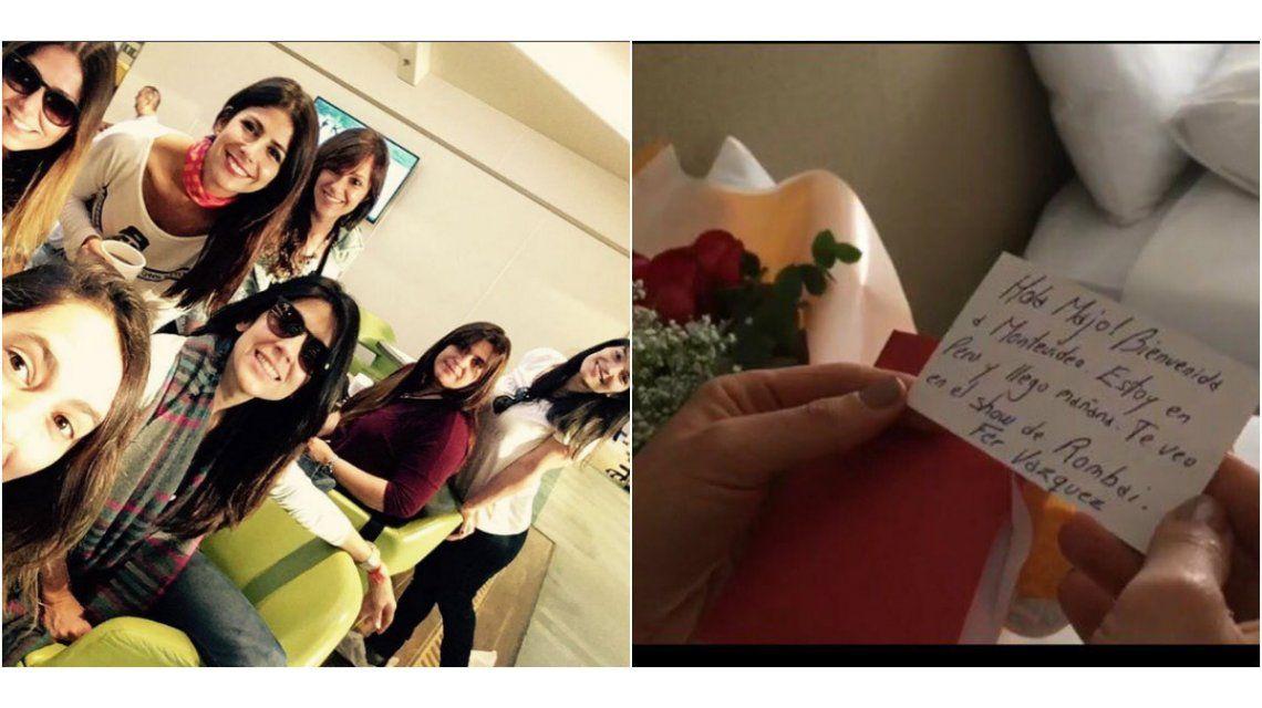 La romántica sorpresa de Fer Vázquez a Majo Martino: ramo de rosas y carta de bienvenida
