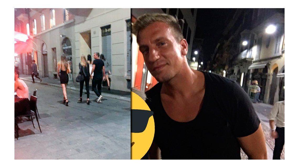 Escrachan a Maxi López con cuatro mujeres en Italia mientras su novia está en París
