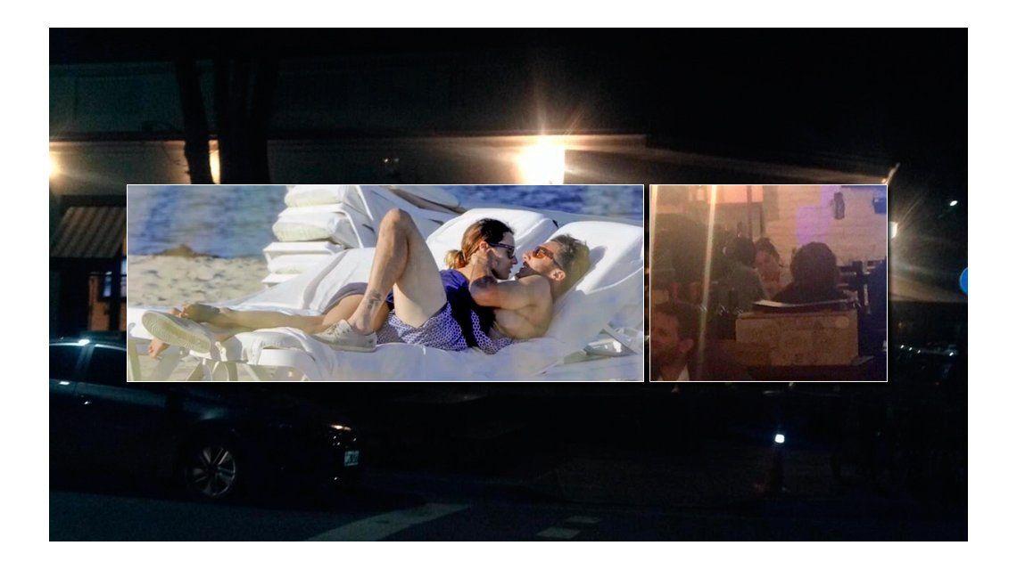 Las fotos de Pampita, infraganti con Pico Mónaco: Te quiero dar un beso