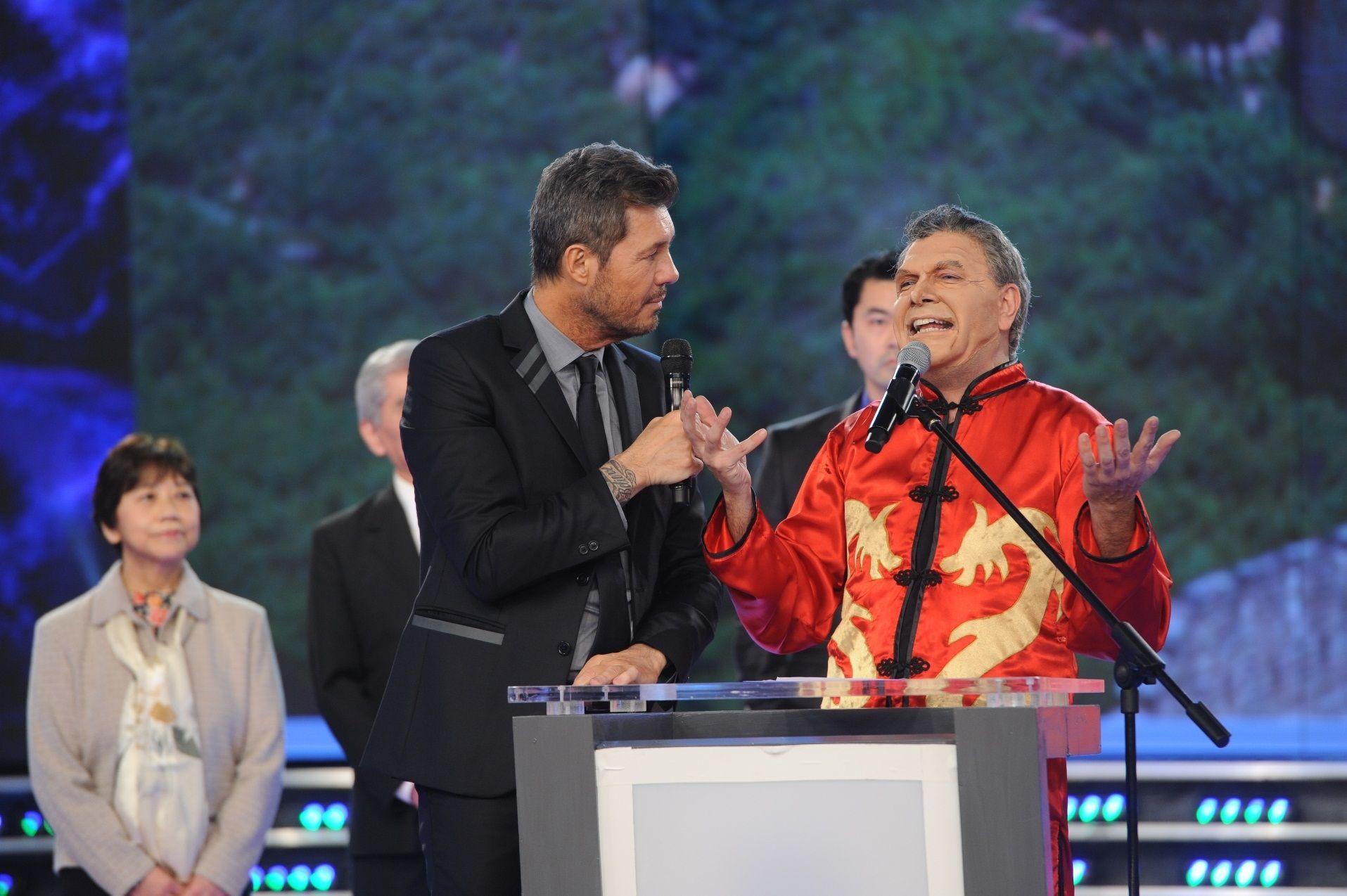 La parodia china de Fredy Villarreal a Macri en Gran Cuñado