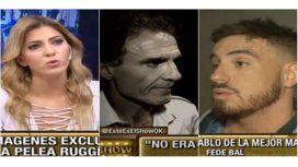 Fede Bal encaró a Oscar Ruggeri, que retrucó: Salí de acá, violento de m...