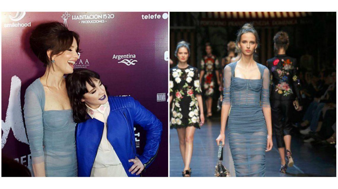 Natalia Oreiro deslumbró con un look de Dolce & Gabbana en la avant premiere de Gilda, la película