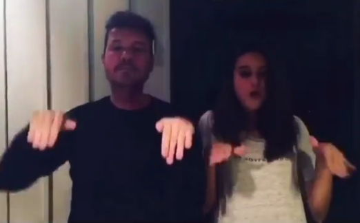 ¡Divertido video! Marcelo Tinelli bailó una coreografía junto a su hija Juana