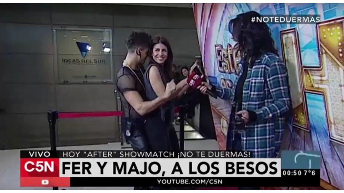 Después de besarse en Showmatch, Majo Martino y Fer Vázquez hicieron un perreo caliente