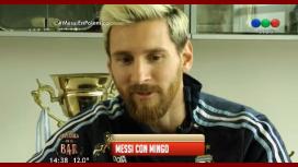 Imperdible entrevista de Minguito a Messi: las críticas, su intimidad y mucho más