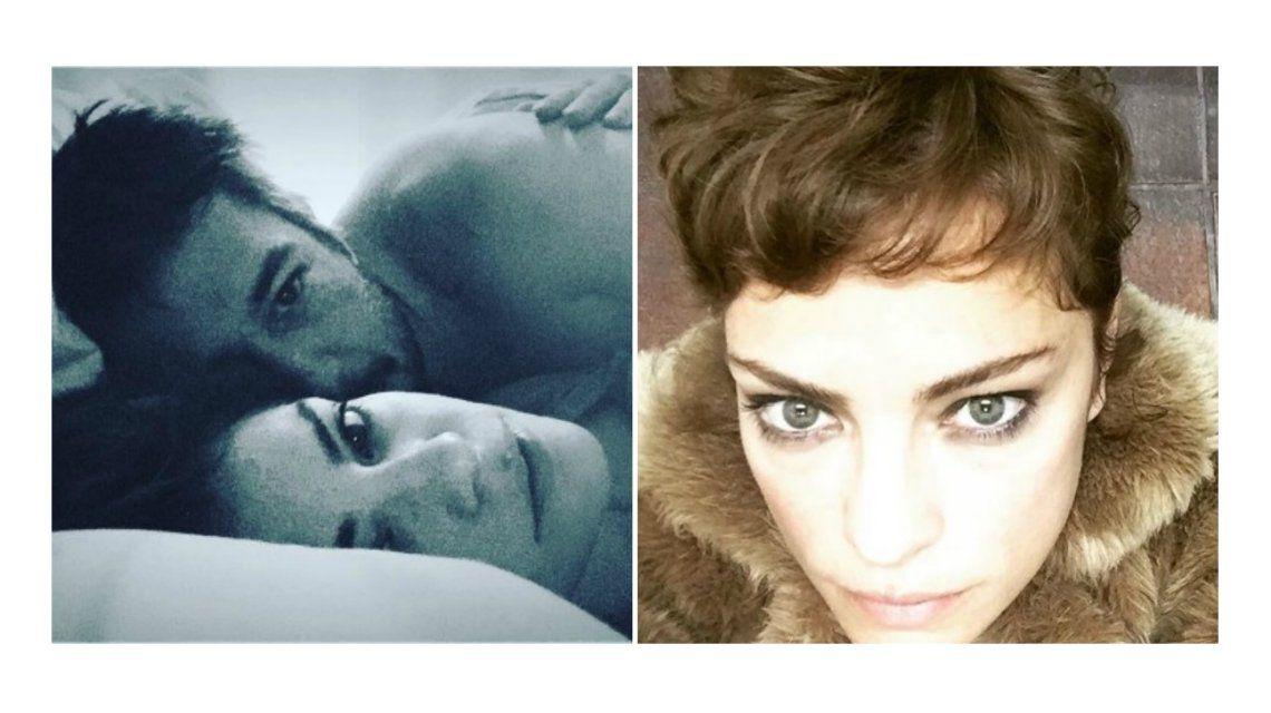 Dolores Fonzi estrenó nuevo look y compartió una foto íntima con su novio en la cama