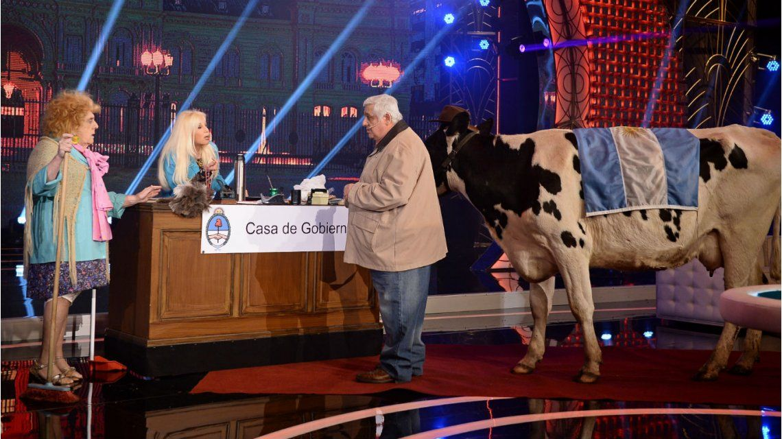 Alberto Samid reveló los pormenores del sketch de la vaca con Susana Giménez