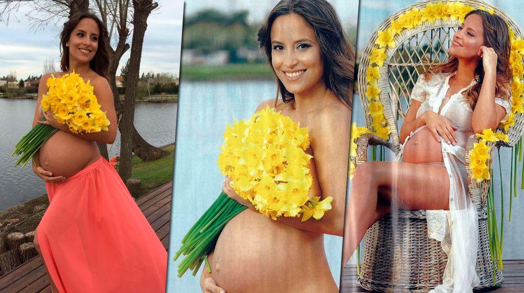 La producción sexy de Lourdes Sánchez, embarazada: el detalle de la tapa que le molestó