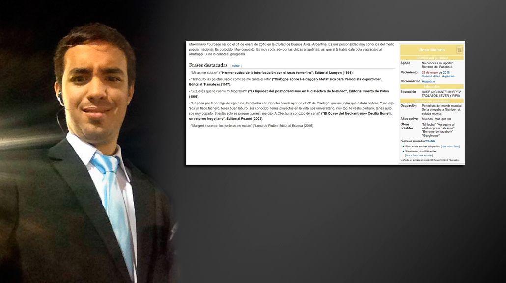 El periodista deportivo Maximiliano Fourcade ya está en Wikipedia: mirá todas sus frases
