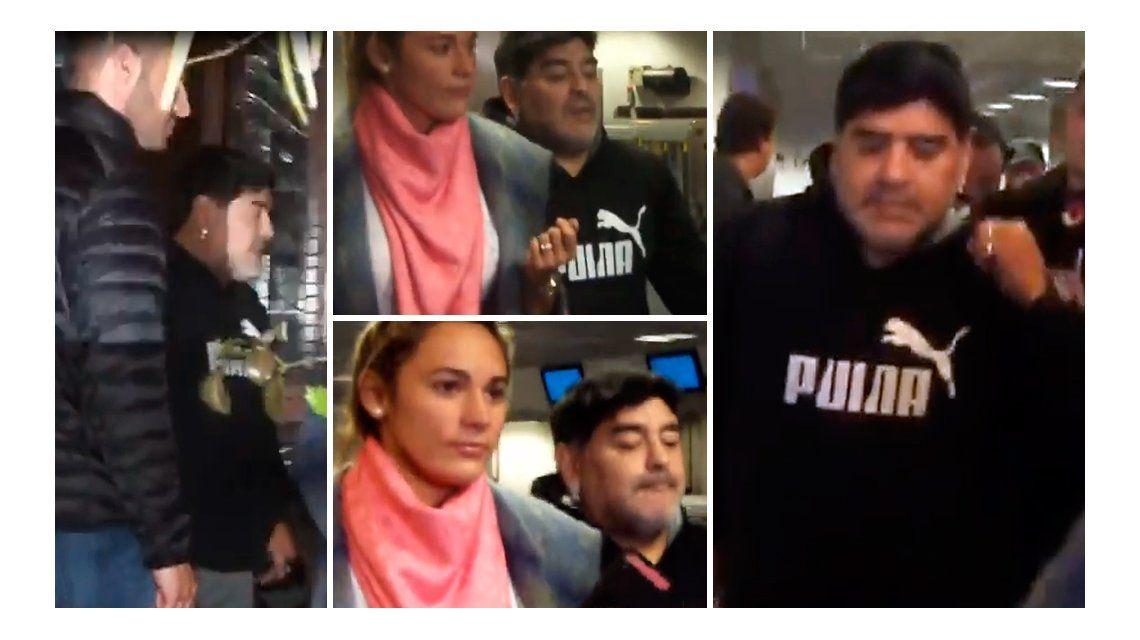 VIDEO: Así llegaba Diego Maradona a Ezeiza
