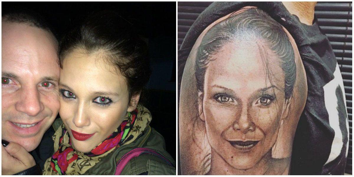 Alejandro Pucheta se hizo un enorme tatuaje de la cara de Barbie Vélez y Nazarena salió a elogiarlo: Sos El papá