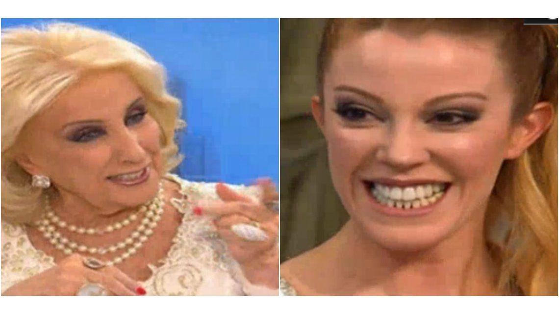 Desopilante charla de Mirtha retando a Miriam Lanzoni: Vos sos la complicada, ¡estás haciendo sufrir a Fantino!