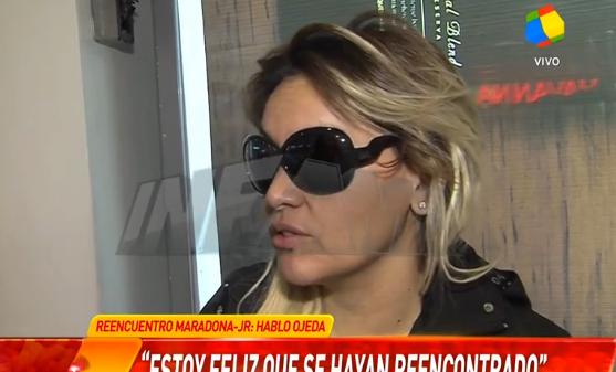Verónica Ojeda opinó sobre la reconciliación de Diego Junior y Maradona y del tuit de Gianinna: Es una buena actitud