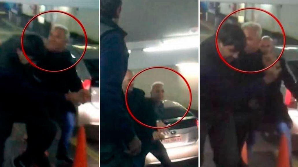 Escándalo total: Flavio Mendoza, a las trompadas en un estacionamiento