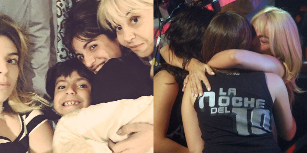¿Cómo reaccionaron Dalma, Gianinna y Claudia al encuentro de Maradona y Diego Jr.?