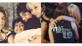 La reacción de Gianinna, Dalma y Claudia al encuentro de Maradona y Diego Junior