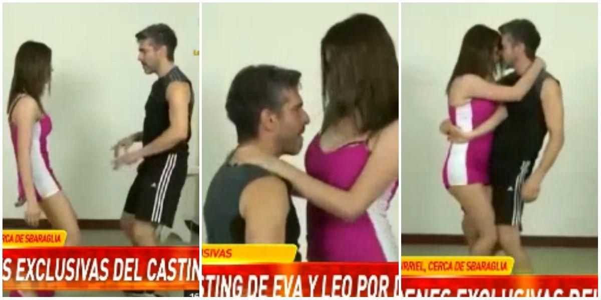 Se difundió el video del casting de Leo Sbaraglia con Eva De Dominici ¡bailando una cumbia hot!